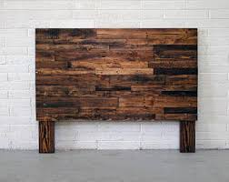 pallet furniture etsy. Reclaimed Recycled Wood Brown Provincial Walnut Headboard Head Board King Queen Full Twin Cali California Bed Pallet Furniture Etsy
