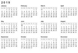 Monthly Printable Calendar 2019 Printable Calendar 2019 Yearly