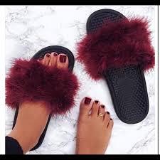 gucci slides nike. nike shoes - custom made fuzzy slides size 7 women gucci