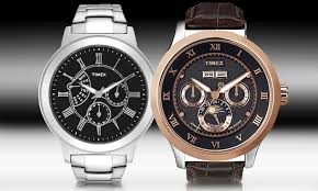 timex men s sport luxury watches groupon goods timex luxury sport watches timex men s sport luxury watches in silver or brown from
