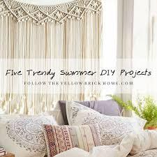 trendy diy summer projects shibori macrame embroidery hoop wreaths watercolors seashell art