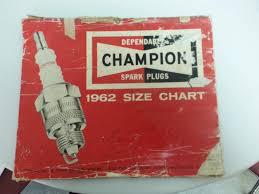 1962 Champion Spark Plug Size Chart