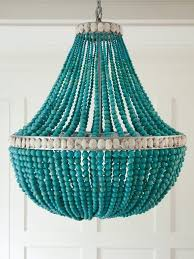 chandeliers gallery collection aqua chandelier shades photo design with popular turquoise wood bead chandeliers