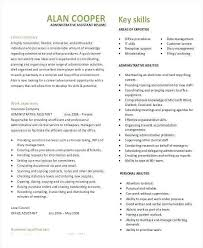 Administrative Assistant Skills Resume Administrative Assistant Skills Resume Elegant Sample Executive