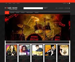 Music Website Templates Enchanting Music Website Design Templates Music Store Website Template Free