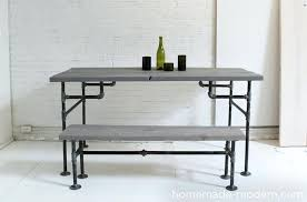 plumbing pipe desk homemade modern diy ep3 wood and iron table other options plans