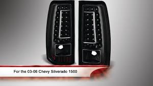 03 06 chevy silverado 1500 2500 and 3500 c shape led tail lights you