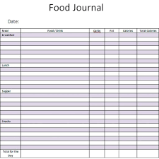 free food journal template 21 free food journal template word excel formats for food