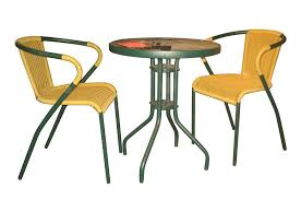 3pc bistro set with glass top