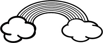 虹と雲のフリー素材イラスト 保育園幼稚園のおたよりフリー素材