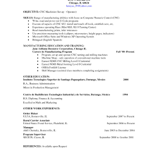 Machinist Resume Cnc Machinist Resume Templates Throughout For All Simple 17