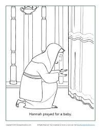Small Picture Hannah Prayed for a Baby Coloring Page Childrens Bible