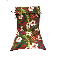 garden treasures 1 piece red standard patio chair cushion
