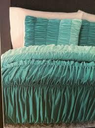 69 99 cynthia rowley ombre ruched duvet comforter set twin xl aqua turquoise new cynthiarowley