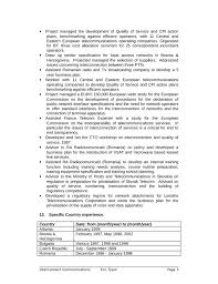 Telecommunication Resume Creative Telecommunications Specialist Resume Page2 Telecom