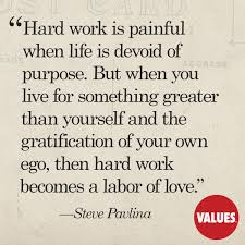Quotes About Hard Love Awesome Hard Work Is Painful When Life Is Devoid Of Purpose But When You