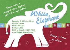 white elephant party invitation charming party invitations is your masterpiece 16 white elephant party invitation oxsvitation