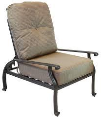 comfortable patio chairs aluminum chair: elizabeth cast aluminum powder coated pc outdoor adjustable club chair