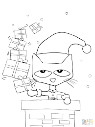 Pete The Cat Buttons Coloring Page My Localdea