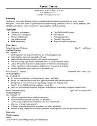 Cnc Machine Operator Resume Samples
