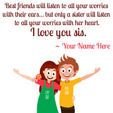 Sister Love Quotes Amazing Cute Love For Sister From Brother Quote Pics With Name