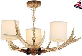 david hunt antler 3 light rustic cream chandelier drum shades