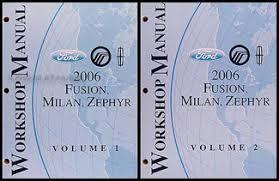 2006 ford fusion mercury milan lincoln zephyr wiring diagram 2006 ford fusion mercury milan lincoln zephyr repair shop manual 2 volume set original 159 00