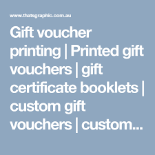 gift voucher printing printed gift vouchers gift certificate booklets custom gift vouchers