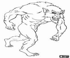 Kleurplaat Angstaanjagende Weerwolf Kleurplaten