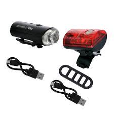 Usb Bicycle Light Set Ultratorch Mini Usb Rechargeable Front And Rear Cycle Light Set