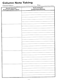 Cornell Notes Template Word Note Taking Template Word Cumed Org