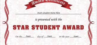 Star Student Certificates Super Student Award Certificate Professional Certificate