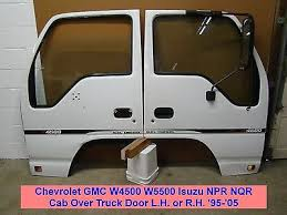 gmc io chevrolet gmc w4500 w5500 isuzu npr nqr cab over truck door l h or r h 95