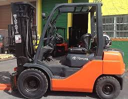 used toyota forklift zeppy io 8fgu25 toyota forklift truck 5000 3 stage mast side shifter penumatic gas miami