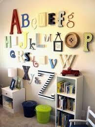 alphabet wall decor kids playroom