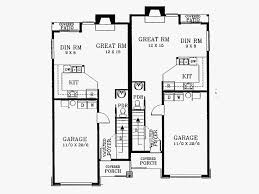 duplex house plans for narrow lots lovely eplans new american house plan narrow lot duplex front