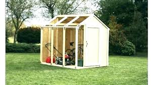 lawn mower shed riding storage small ramp for designs diy