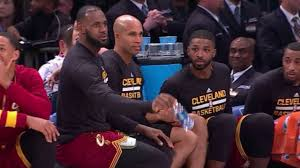 lebron water. watch: lebron, kyrie amuse themselves with courtside water bottle challenge lebron o
