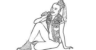 Cute jojo siwa sketch coloring page: 12 Free Jojo Siwa Coloring Pages Moms