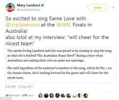 Tony Abbott Calls Macklemore To Drop Gay Anthem From Nrl
