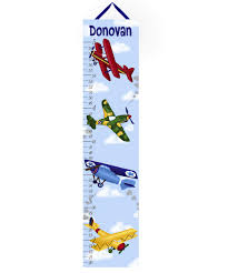 Amazon Com Toad And Lily Canvas Growth Chart Airplane Boys