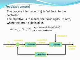 process control feedback control y sp set point target value  2 feedback