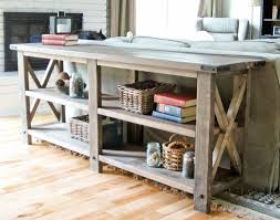 rustic x console table ana white