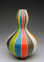 Pamela Summers Polychrome —Cliff House Studio & Gallery Cliff House Studio  and Gallery-Cliffhousest…   Pottery painting designs, Glass bottles art,  Pottery painting