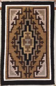 picture of two grey hills navajo rug ml authentic sand paintings style rug native american crafted