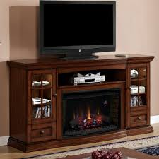 modern gas fireplace with tv stand