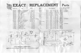 ... Miller to RCA Exact Replacement Sheet for TV Coils, ...