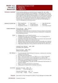 Resume It Project Manager Thrifdecorblog Com