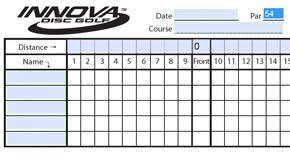 Golf Score Card Template Download A Template For Scorecards From Innova Disc Golf