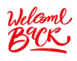Welcome Back Graphics Welcome Back Hand Drawn Lettering Modern Brush Calligraphy